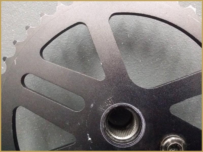 """Manovella BMX """"3 pezzi"""" 175mm (Rif 512)"""