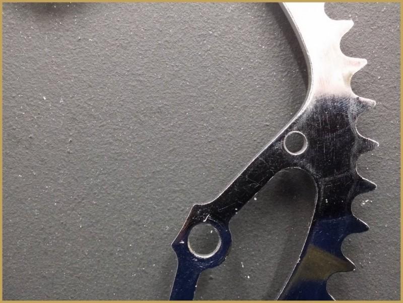 """Altopiano NOSTRA """"a 3 fori cromato acciaio"""" 50d (Rif 498)"""