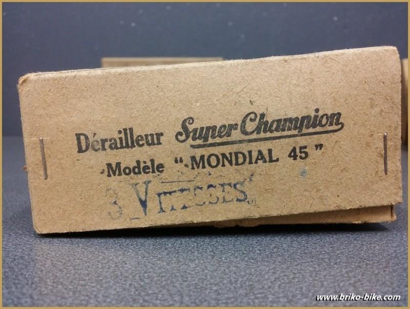 """Rear derailleur NOS, SUPER CHAMPION """"MONDIAL 45"""" 3v """" (Ref 1062)"""