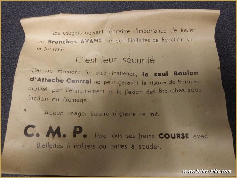 """Etriers de frein NOS """"C.M.P COURSE"""" (Ref 363)"""