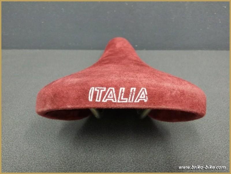 "El sillín Selle Italia ""MUNDIALITA"" Nubuk Burdeos (Ref 198)"