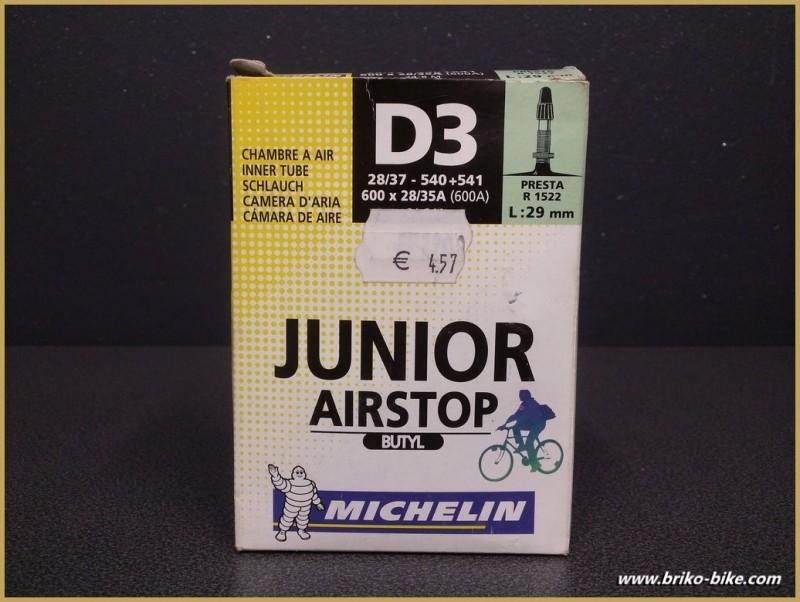 """Cámara de aire """"MICHELIN D3 Junior"""" 600A"""