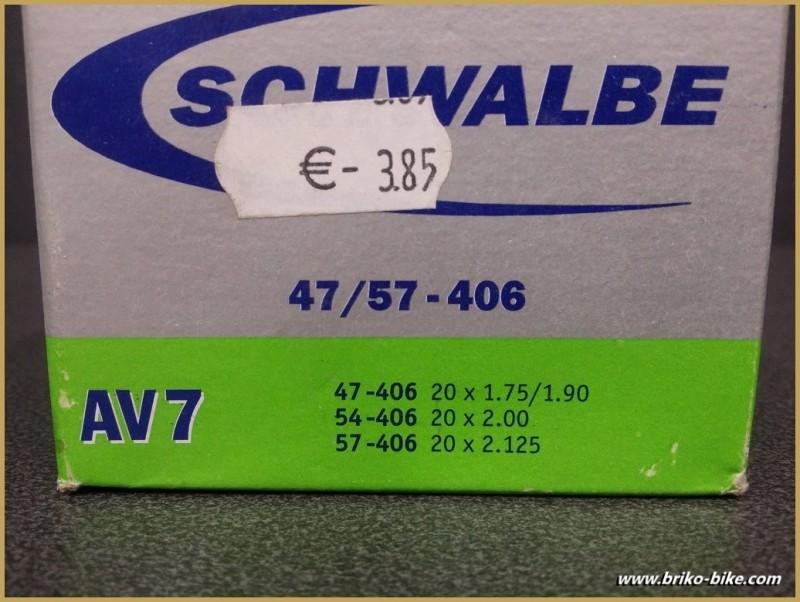 "Chambre à air SCHWALBE AV7 / 20"""