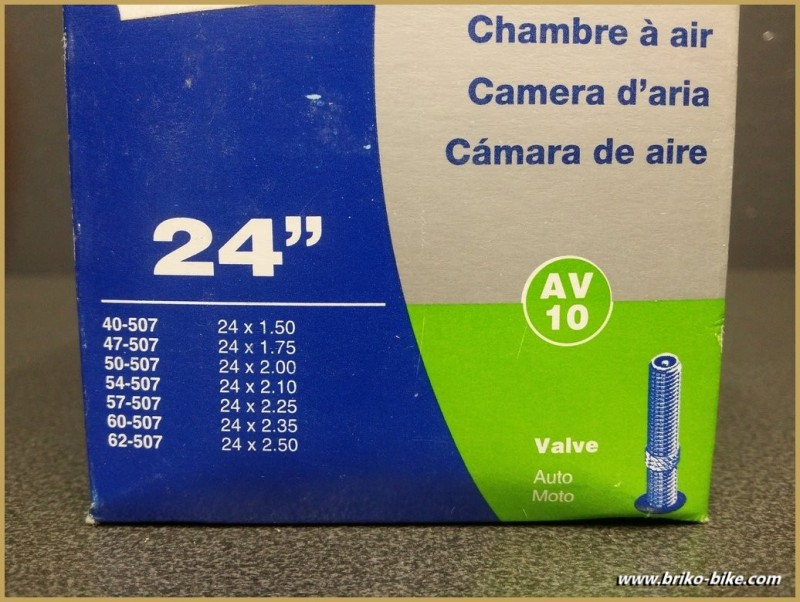 "Chambre à aria SCHWALBE AV10 / 24"""