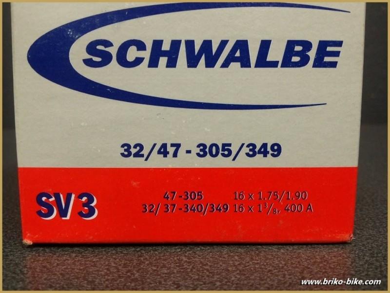 """Chambre à air SCHWALBE SV3 / 400A (16"""")"""
