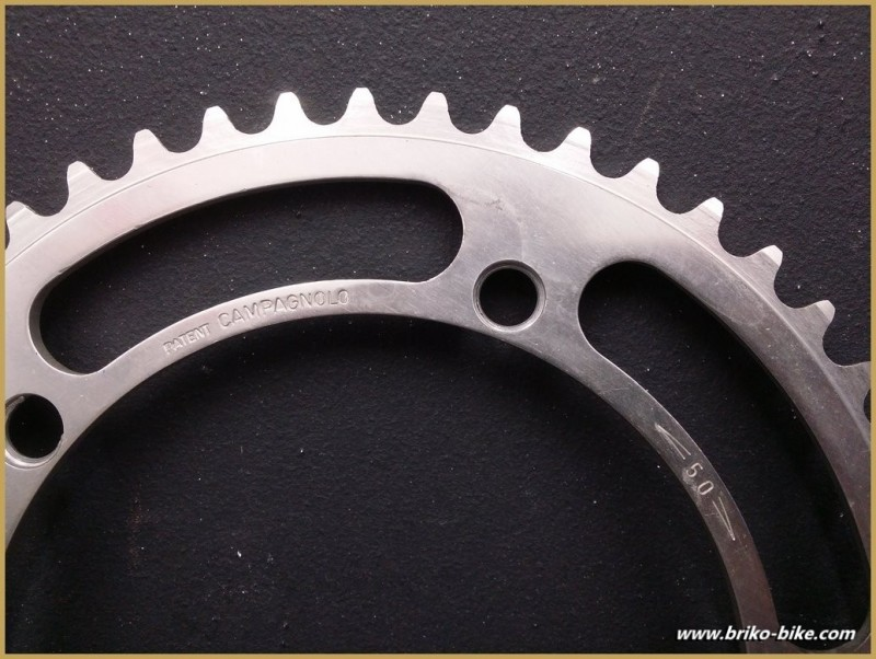 """Plateau NOS """"CAMPAGNOLO RECORD"""" 50d BCD 144 (Ref 555)"""
