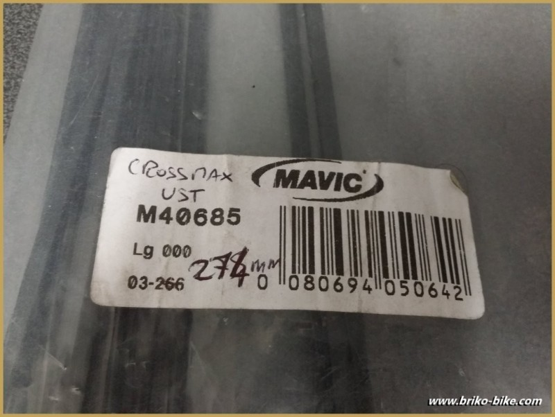 "Rayon ""MAVIC CROSSMAX UST"" 274mm"