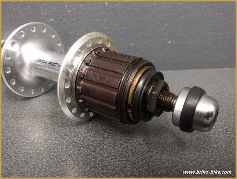 "Rear hub OUR ""SUNTOUR XC COMP"" 7v 36t (Ref 242)"