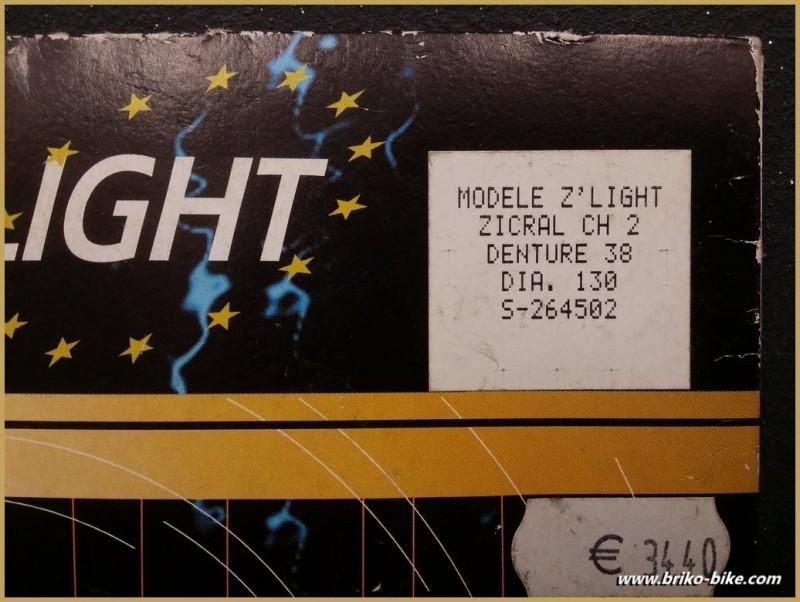 """Plateau NOS """"STRONGLIGHT Z'LIGHT"""" 38d BCD 130 (Ref 603)"""