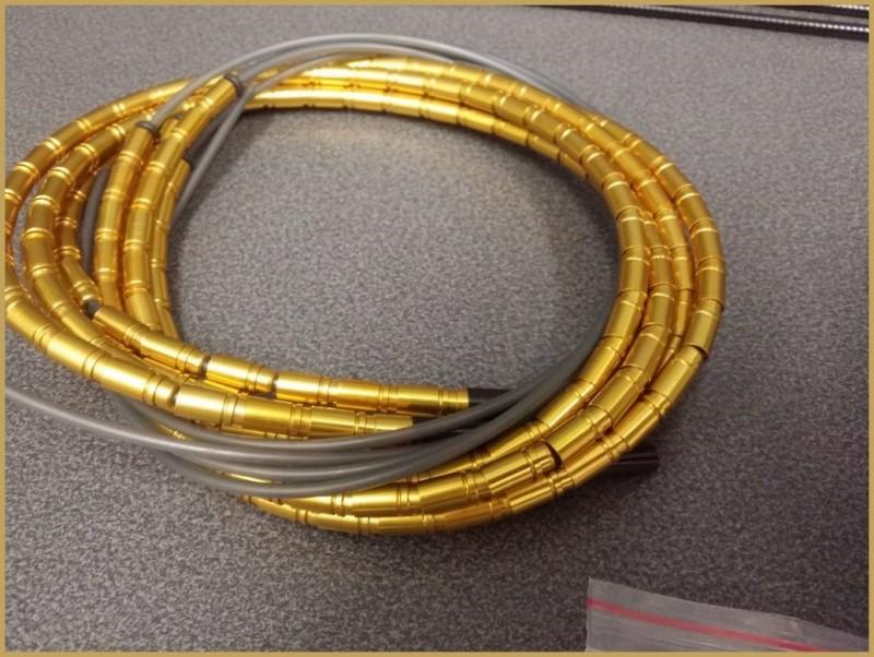 """Guaina in alluminio Leggero """"TOKEN"""" Oro (Rif 03)"""