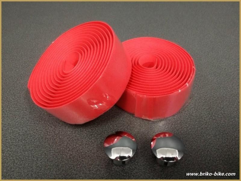 """Nastro manubrio """"Schiuma di PVC"""" colore Rosso (Rif 22)"""