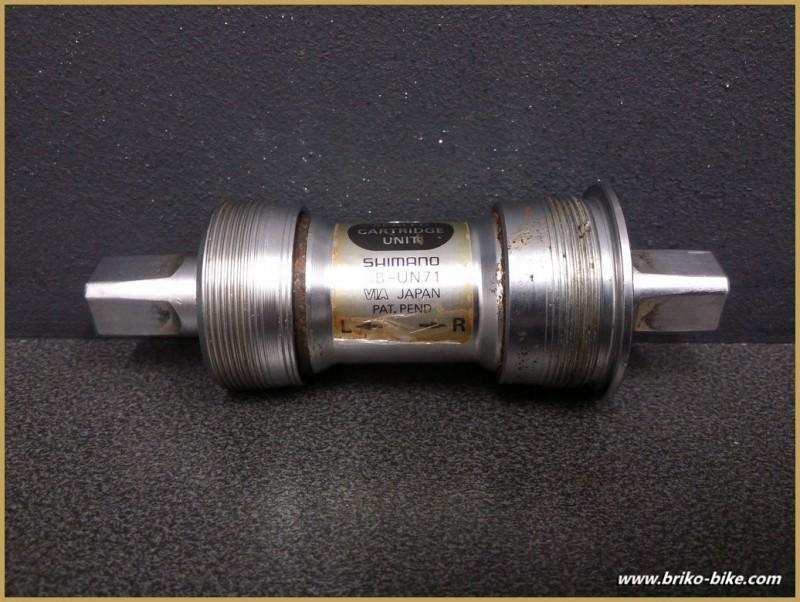 """Axe de pédalier """"SHIMANO BB-UN71"""" 115 mm 36x24 Tpi (Ref 220)"""