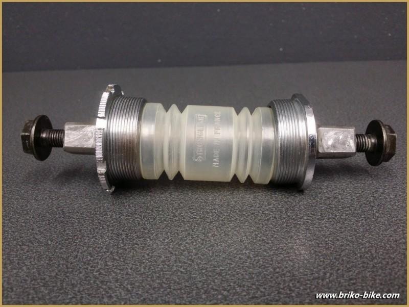 "Axe de pédalier ""STRONGLIGHT COMPETITION"" 118 mm Italien (Ref 242)"
