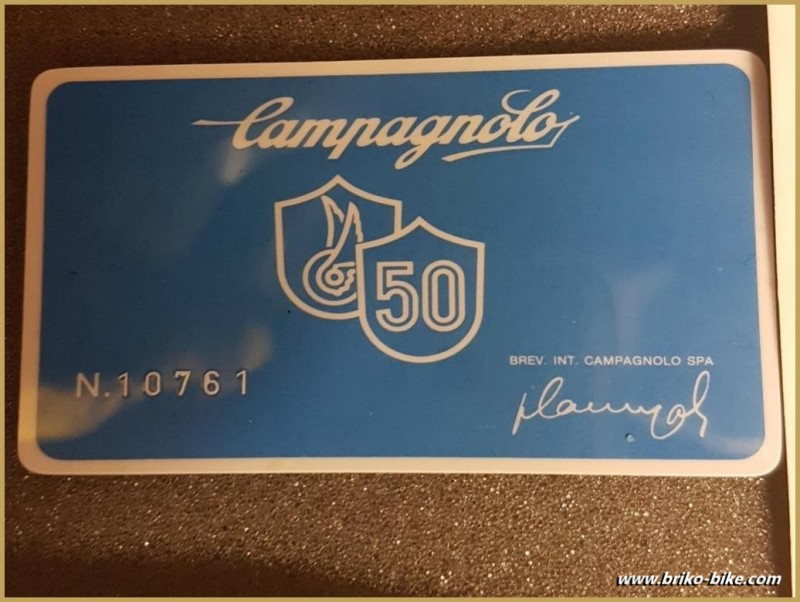 "Komplette gruppe ""CAMPAGNOLO 50th"" UNSERE"
