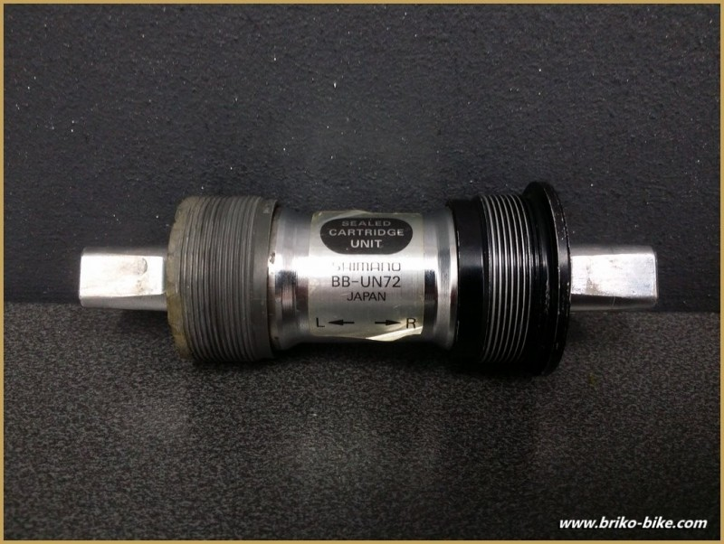 """Axis of the bottom bracket """"SHIMANO BB-UN72"""" 115 mm BSC (Ref 245)"""
