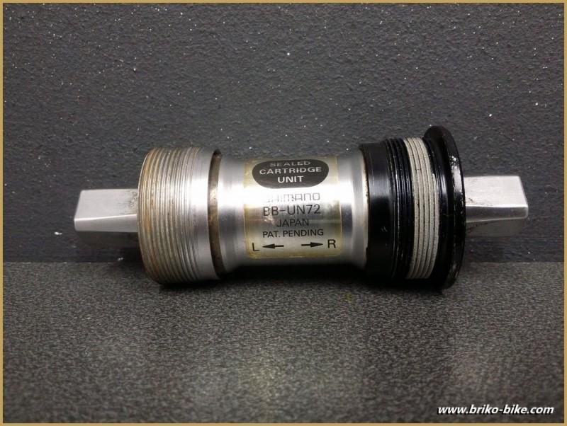 """Axe de pédalier """"SHIMANO BB-UN72"""" 108 mm BSC (Ref 247)"""