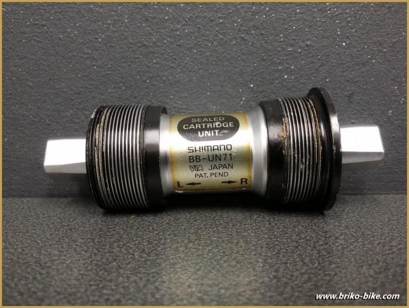 """Axe de pédalier """"SHIMANO BB-UN71"""" 107 mm BSC (Ref 248)"""