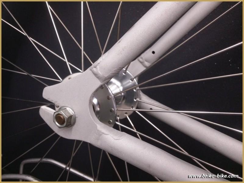 Cadre Pignon fixe aluminium Sablé Taille 52