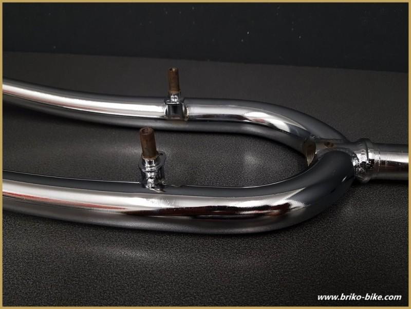 """Fourche VTT 24 pouces """"acier chromé"""" (Ref 102)"""