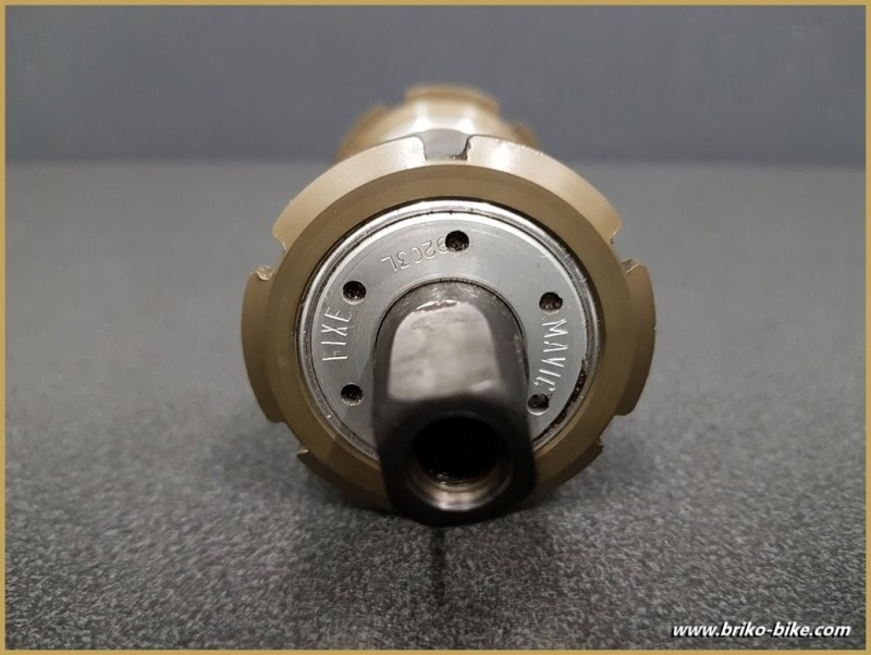 """Axe de pédalier """"MAVIC 610"""" 120 mm (Ref 252)"""