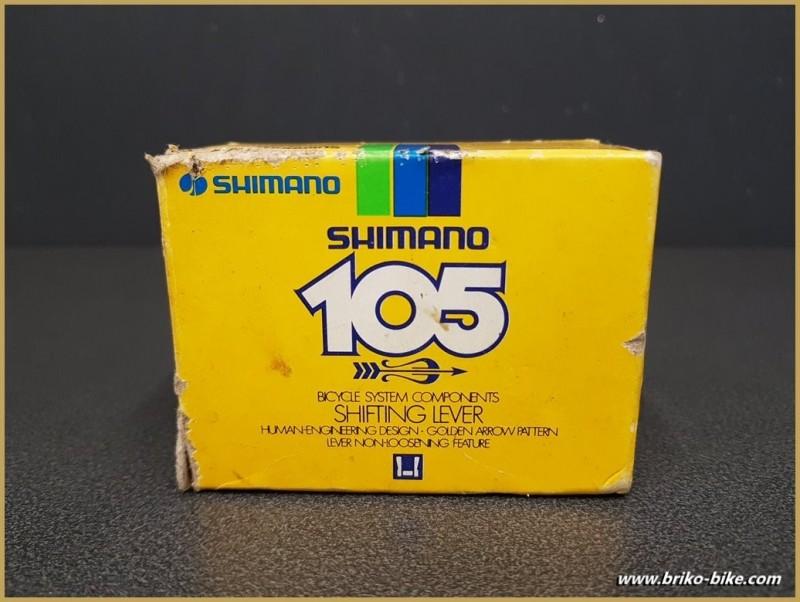 "Manettes de vitesses NOS ""SHIMANO 105 GOLDEN ARROW"" (Ref 410)"