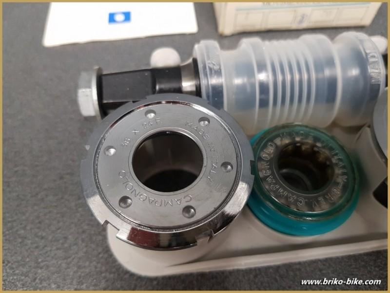 """Axe de pédalier NOS """"CAMPAGNOLO ATHENA"""" 116 mm 36 x 24 (Ref 260)"""