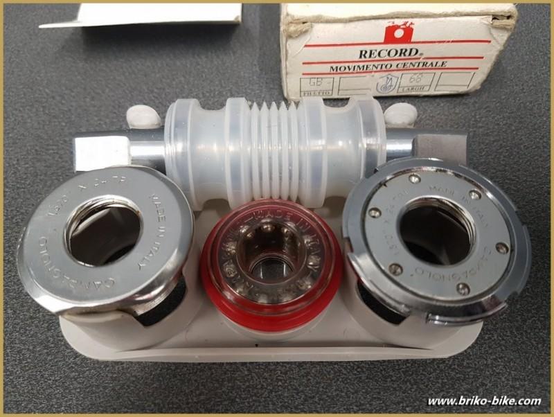 """Axe de pédalier NOS """"CAMPAGNOLO C-RECORD"""" 111 mm BSC (Ref 265)"""