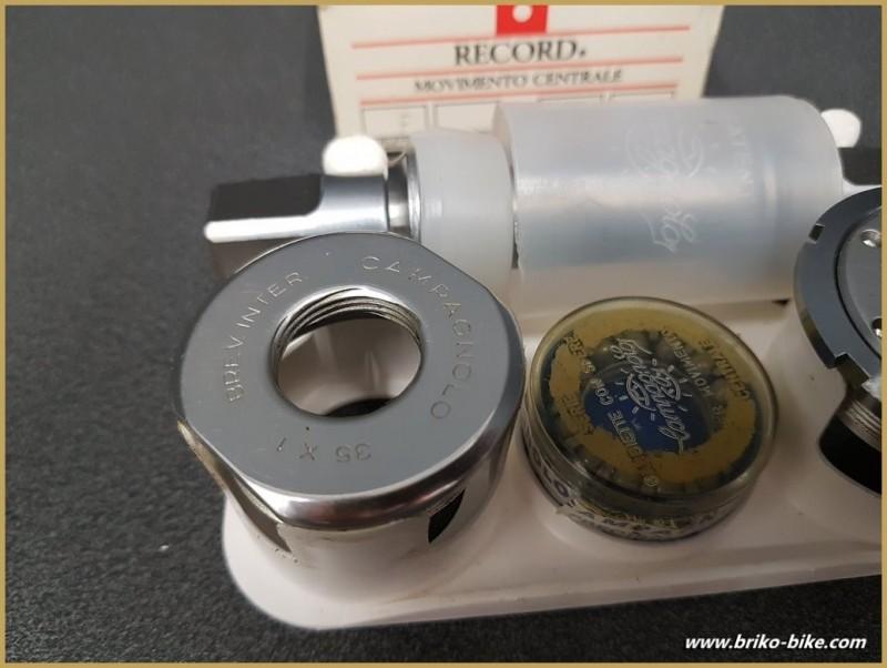 """Axe de pédalier NOS """"CAMPAGNOLO C-RECORD"""" 111mm 35 x 1(Ref 258)"""