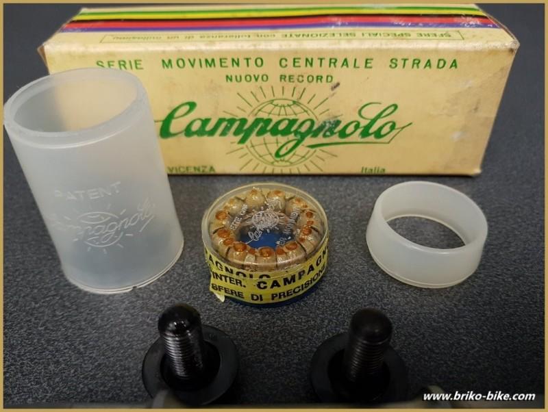 """Axe de pédalier NOS """"CAMPAGNOLO RECORD"""" 114.5 mm 35 x 1 (Ref 266)"""