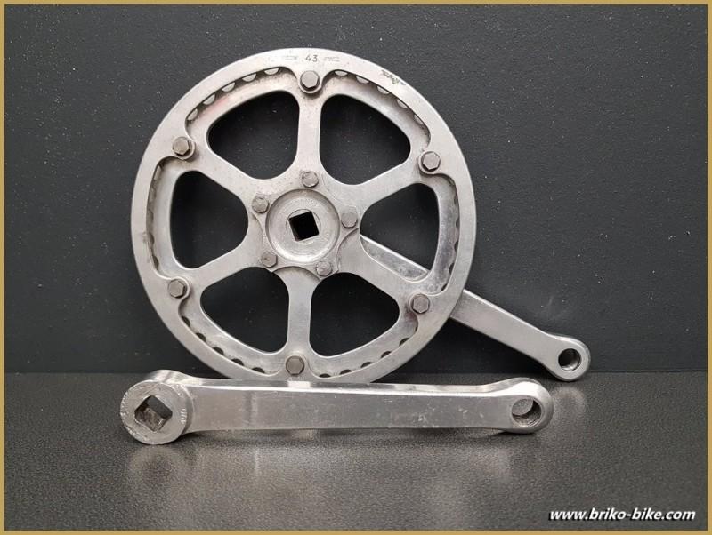 """Pédalier """"STRONGLIGHT 49D Cyclo cross"""" 170 mm  (Ref 584)"""