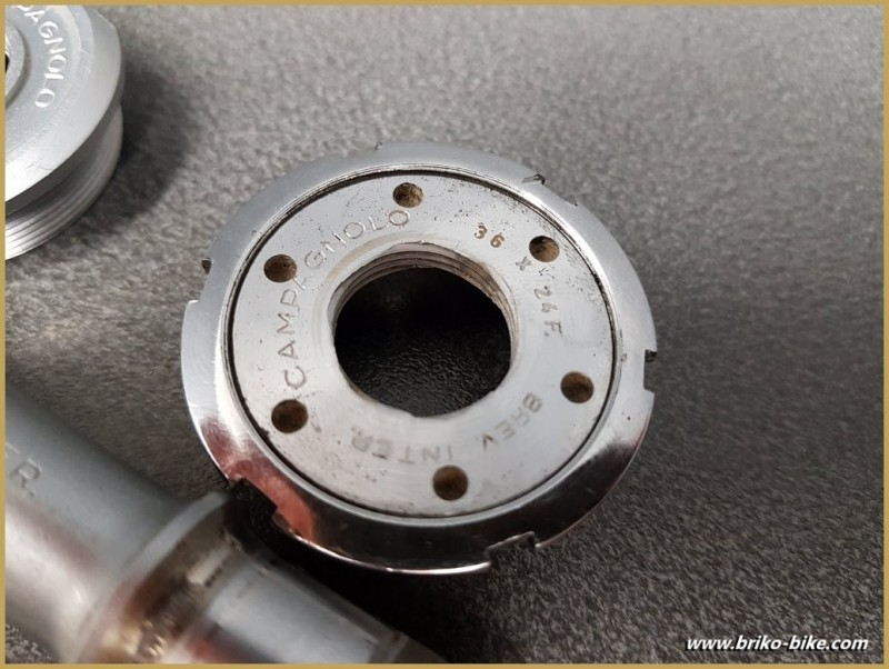 """Tretlager CAMPAGNOLO SUPER RECORD"""" - 113 mm 36 x 24 (Ref 271)"""