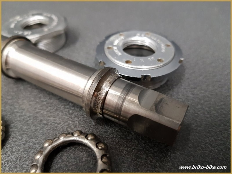 Bottom bracket CAMPAGNOLO SUPER RECORD TITANIUM 113 mm 35 x1 (Ref 281)