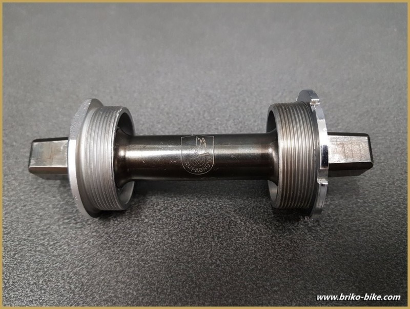 "Axe de pédalier ""CAMPAGNOLO TRIOMPHE"" 114 mm 36 x 24 (Ref 283)"