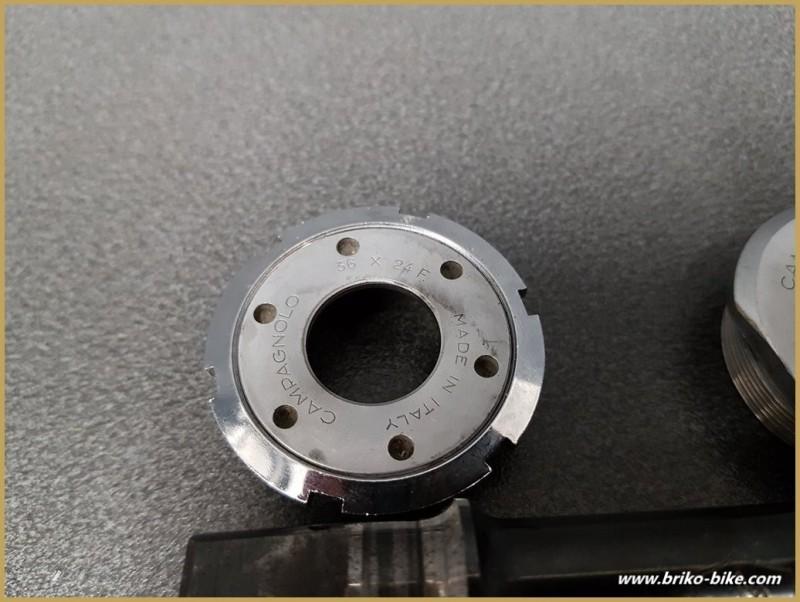 """Axe de pédalier """"CAMPAGNOLO ATHENA"""" 116 mm 36 x 24 (Ref 284)"""