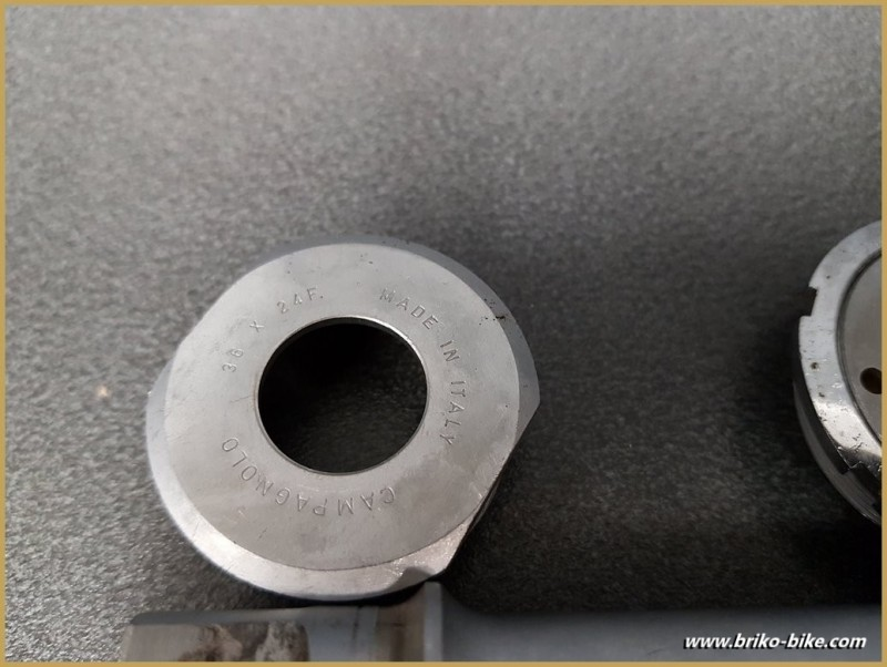 """Movimento centrale CAMPAGNOLO RECORD PISTA"""" 109 mm (Rif 285)"""