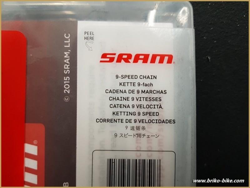 """La cadena de Nuevo SRAM PC 951"""" 9 velocidad"""