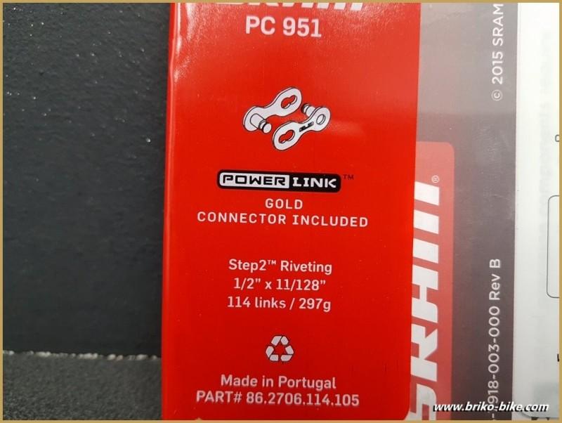 """Chaîne Neuve """"SRAM PC 951"""" 9 vitesses"""