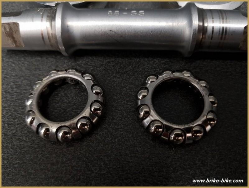 """Pedalier CAMPAGNOLO SUPER RECORD"""" 114 mm 35 x 1 (Ref 288)"""