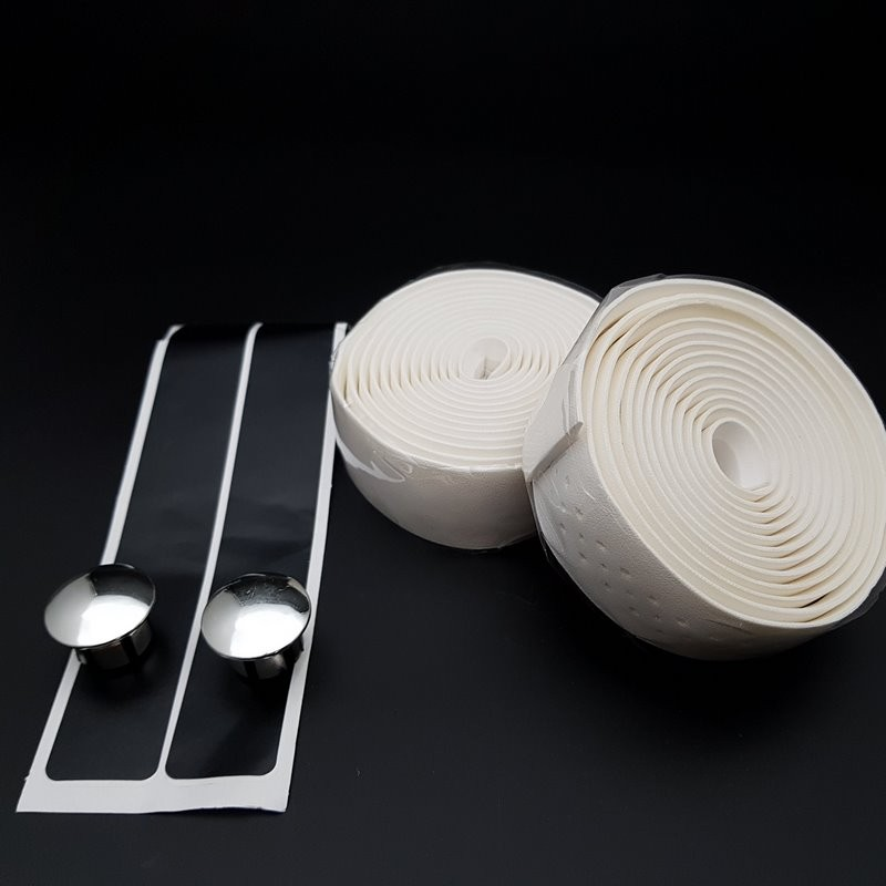 Lenkerband-stil Leder Weiß (Ref 65)