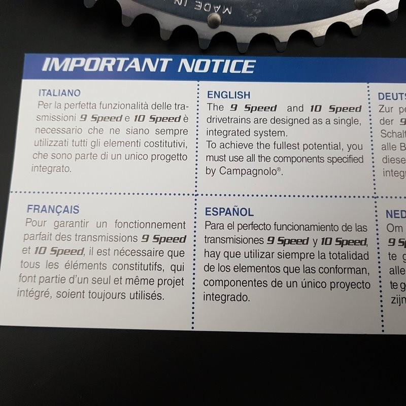 "Crankset-NEW ""CAMPAGNOLO CENTAUR"" 172.5 mm-9/10v (Ref 594)"