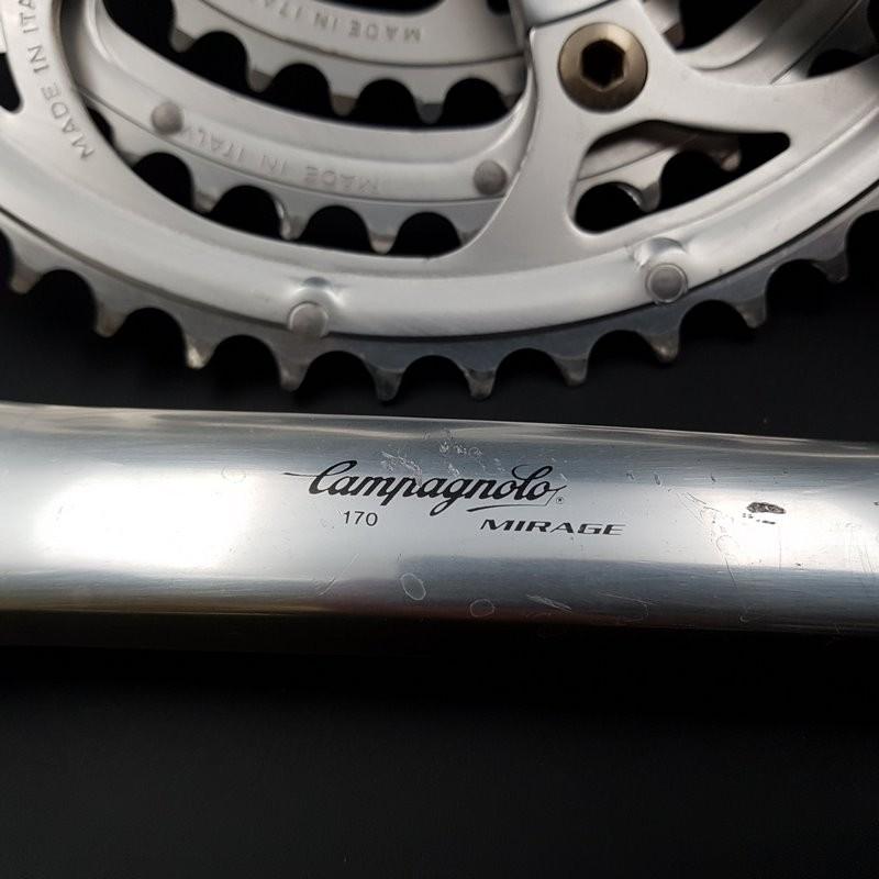 "Pédalier ""CAMPAGNOLO MIRAGE"" 170 mm Triple (Ref 598)"