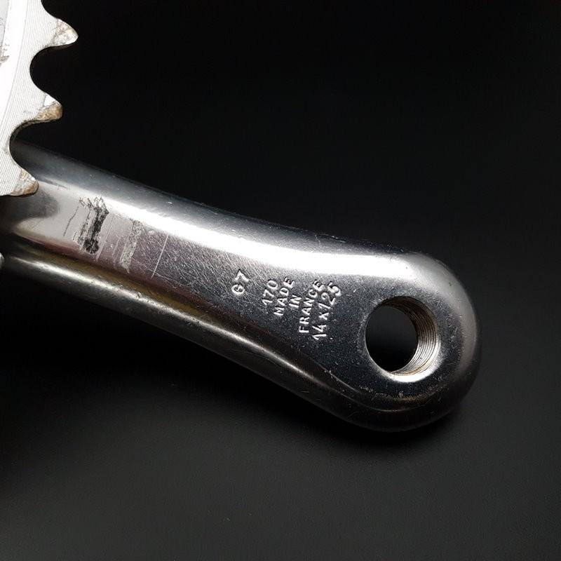 "Pédalier ""STRONGLIGHT 100LX"" 170 mm tripla (Rif 599)"
