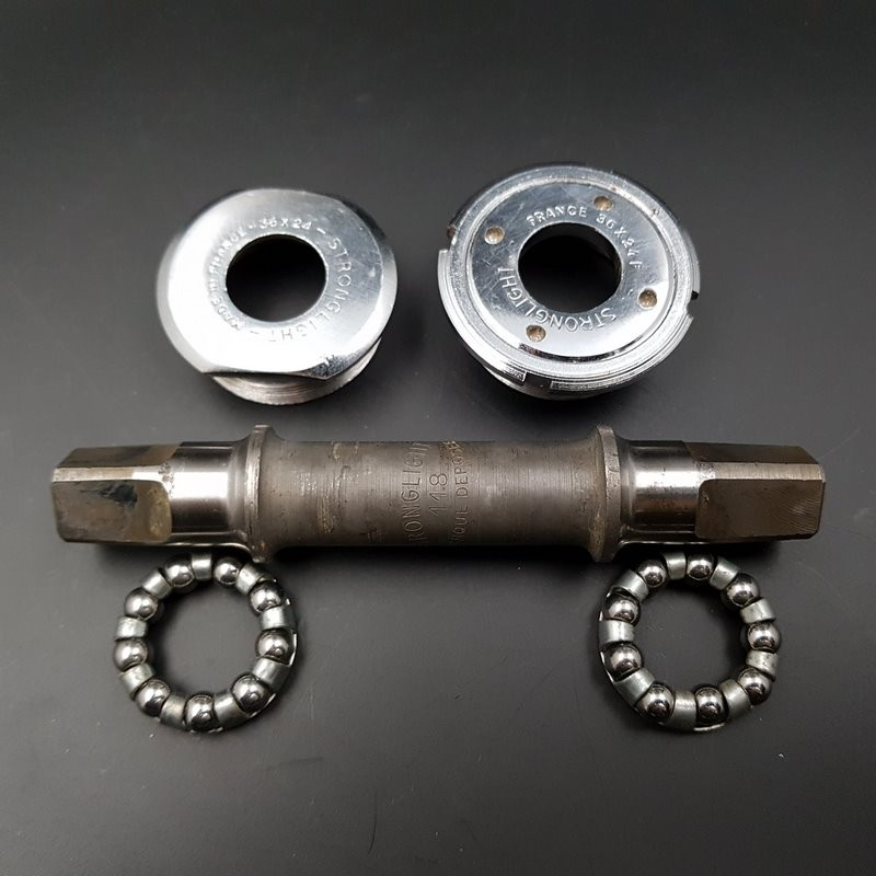 """Crank axis """"STRONGLIGHT COMPETITION"""" 118 mm 36 x 24 (Ref 298)"""