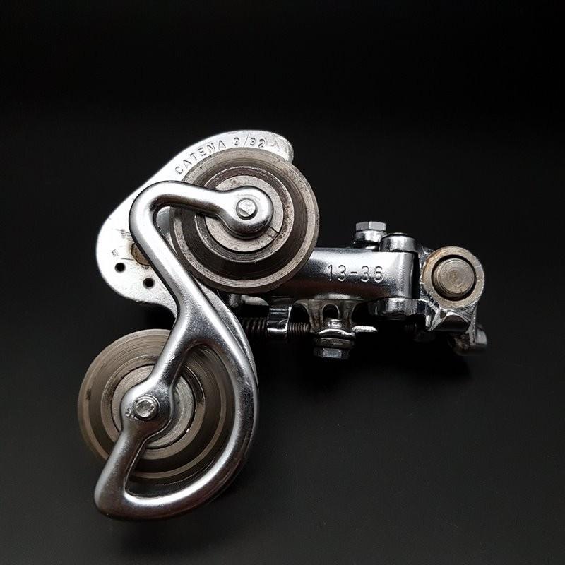 """Deragliatore posteriore CAMPAGNOLO RECORD"""" in acciaio 6v (Rif 1153)"""
