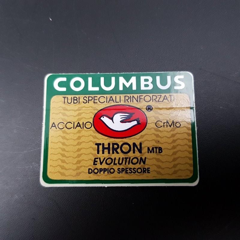 "Adesivo telaio COLUMBUS THRON MTB Evoluzione"" la NOSTRA"
