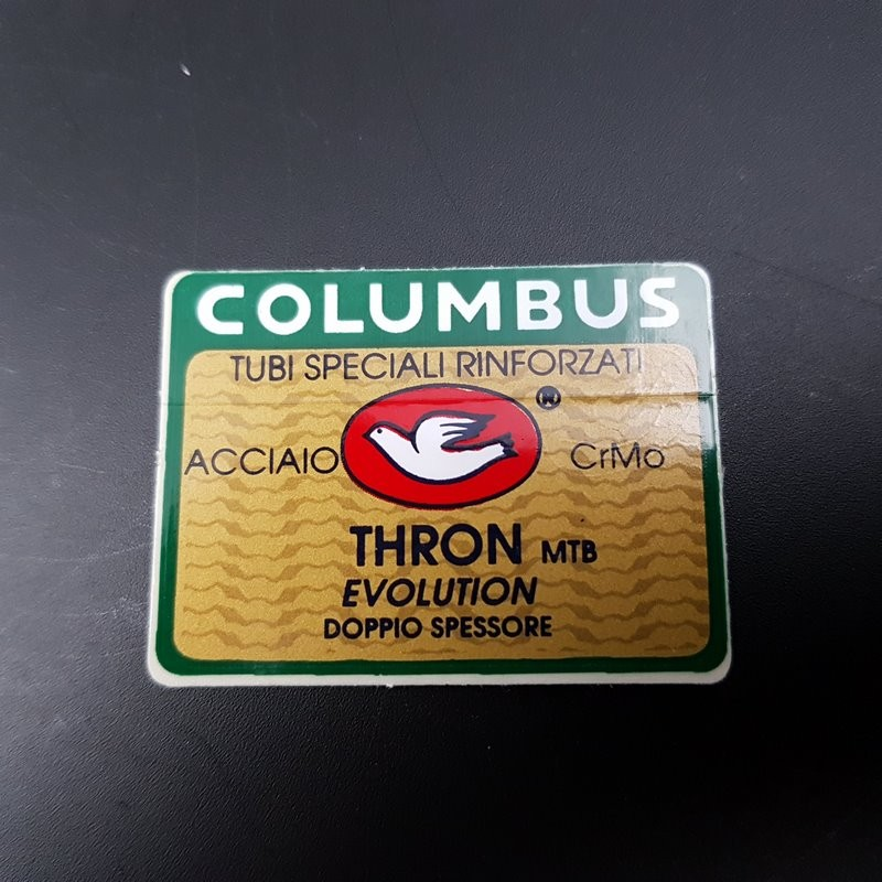 "Sticker cadre ""COLUMBUS THRON MTB Evolution"" NOS"