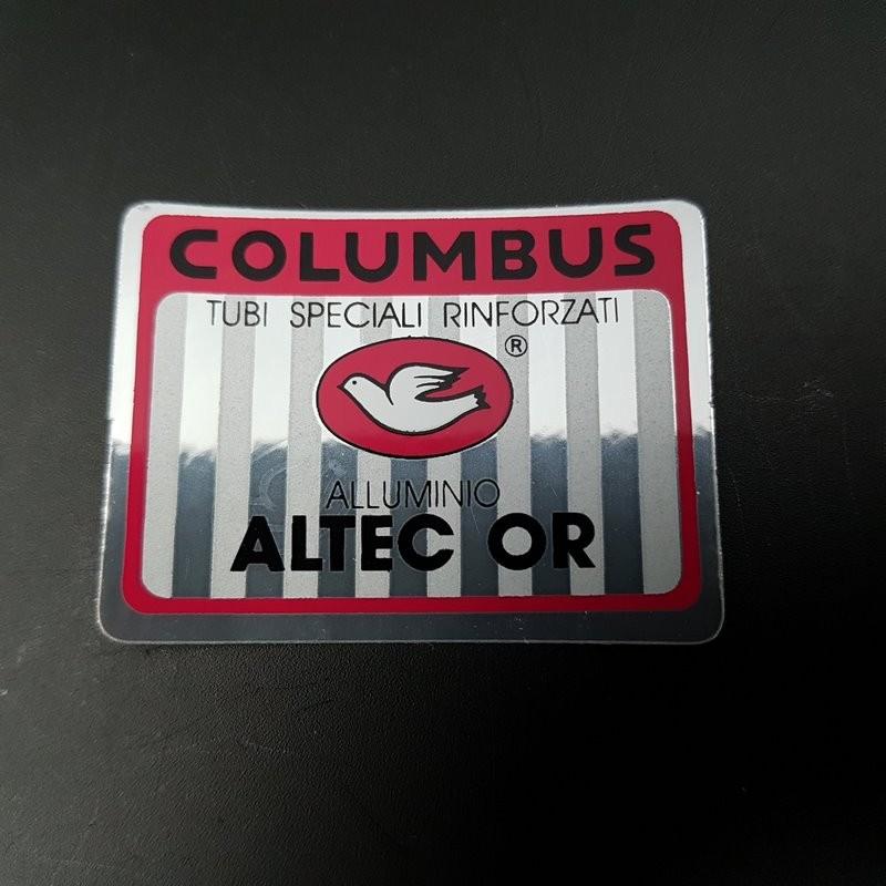 "Sticker frame ""COLUMBUS ALTEC or"" OUR"