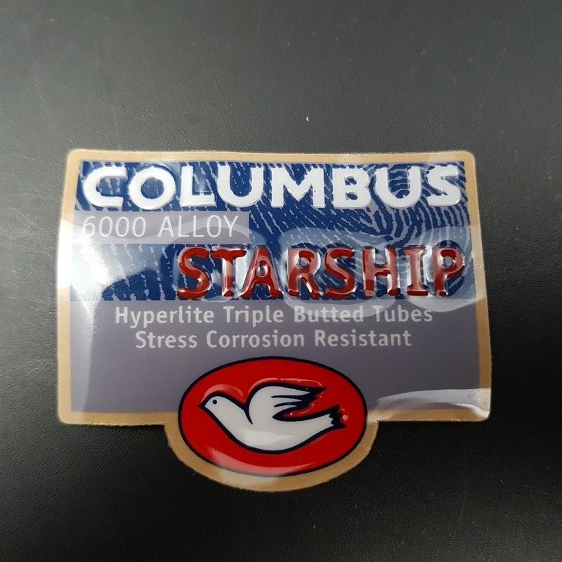 "Sticker cadre ""COLUMBUS STARSHIP relief"" NOS"