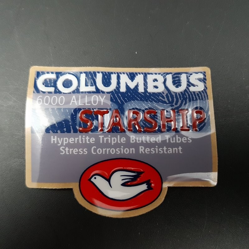 """Sticker frame """"COLUMBUS STARSHIP-relief"""" OUR"""