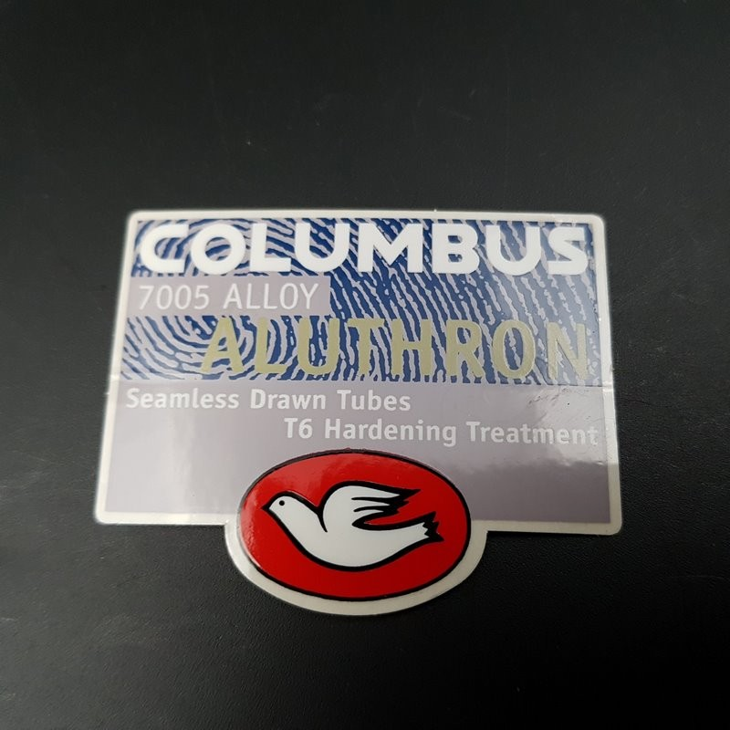 "Sticker cadre ""COLUMBUS ALUTHRON"" NOS (Ref 02)"